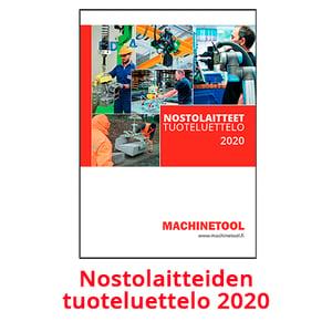 Nostolaitteiden tuoteluettelo 2020